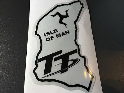 Sticker Reflechissant Circuit Tt Trophy Ile De  Man Casque Poly Carenage