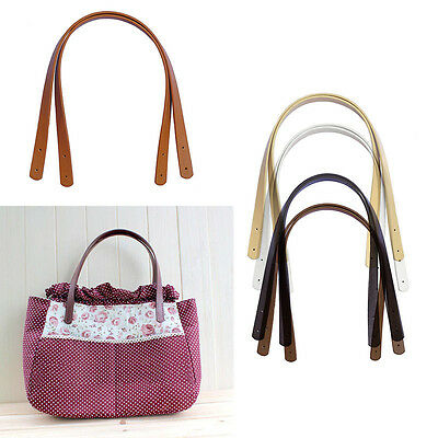 2Pc DIY Handbag Purse Tote Bag PU Leather Handle Strap Handles Replacement Strap