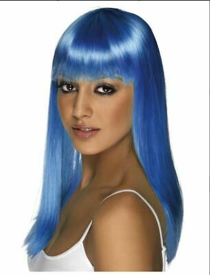 Smiffy's Glam Wig Neon BLUE