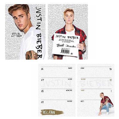 Official Justin Bieber 2017 A6  Diary