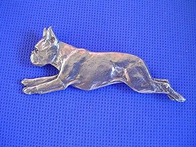 """Boston Terrier Running Pewter pin #57A """"RUN"""" dog jewelry by Cindy A. Conter"""