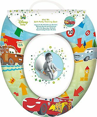 DISNEY CARS Childs Padded Potty Toilet Training Seat WC