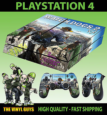 PS4 Skin Watch Dogs 2 City Hacker Marcus Sticker New + 2 X Pad decal Vinyl LAY