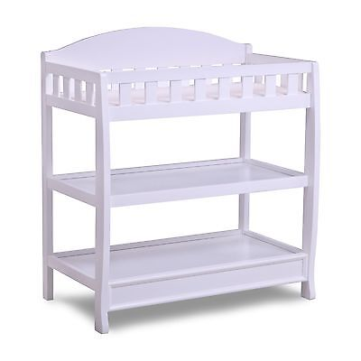 Infant Changing Table with Pad White Delta Children Nursery Furniture Wood New