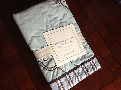 Pottery Barn Kids Monkey See Monkey do Quilted Sham NWT Small Crib/Toddler Bed