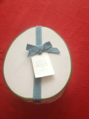 4pc Pottery Barn Charlotte Egg PLATES NEW IN BOX for EASTER SPRING