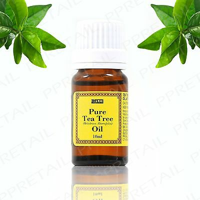 100% Pure Australian Tea Tree Oil 10ml Essential Natural Antiseptic Anti Fungal