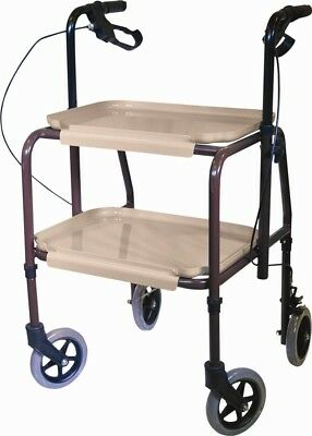 Aidapt Height Adjustable Kitchen Strolley Trolley with Brakes | VG798WB