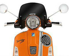 Faco Short Cruiser Flyscreen With Brackets - Smoked - Vespa Gt 125