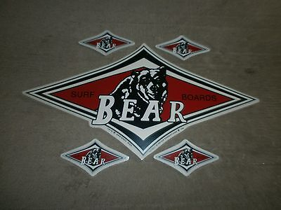 5 Bear Surfboards Stickers Longboard Fin 1 Large & 4 Small You Get All Five !!!