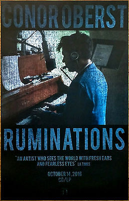 CONOR OBERST Ruminations 2016 Ltd Ed RARE Poster +FREE Indie Poster! BRIGHT EYES