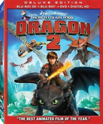 How to Train Your Dragon 2 [New Blu-ray 3D] With DVD, Widescreen, 3D, 3 Pack,