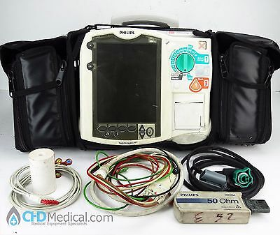 Philips Heartstart Mrx M3536A Pacing 12 Lead Ecg Analyze 2 Batteries Plus Extras