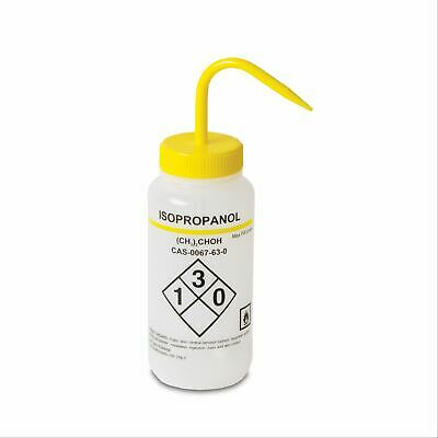 500mL Isopropanol Wash Bottles Vented Right to Know GHS 2 pk