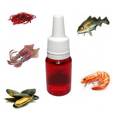 Fishing Soft Bait Scent Attractant Shrimp Squid Cod Bloodworm Mussels 10 ml