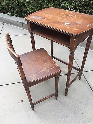 Antique Child's Desk with Chair