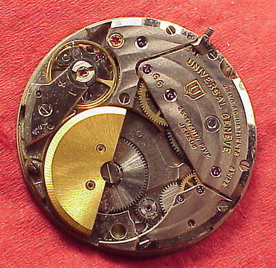 Rare Universal Geneve Cal 66, micro rotor automatic movement with dial & hands