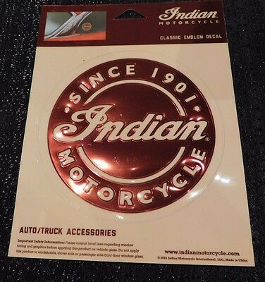 Genuine Indian Motorcycle Window Decal Classic Emblem Decal 51/8""
