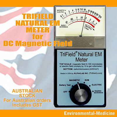 TriField Natural EM Meter - DC Magnetic fields - OZ Seller