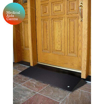 1.5in EZ-ACCESS Recycled Rubber Threshold Ramp | Bevelled Sides | Indoor/Outdoor