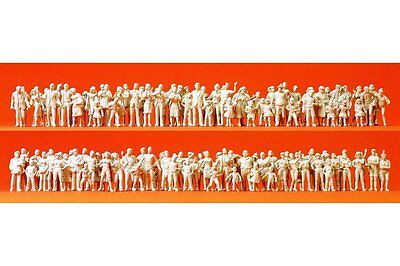 Preiser 16343 HO 1/87 Passants Spectateurs 130 figurines