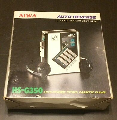 Ultra Rare AIWA HS-G350 AM/FM Stereo Cassette Player w/ 3 Band Graphic Equalizer