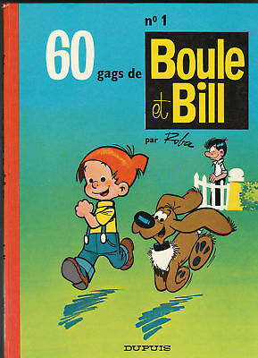 Boule et Bill n°1 - ROBA. 1970. TBE 1970 dos rouge