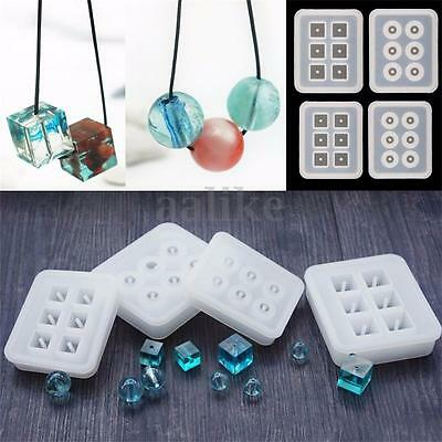 Silicone Beads Jewelry Making Mold Mould Pendant Ornament Resin DIY Craft Tools