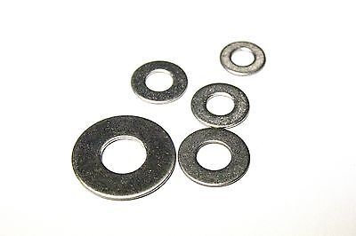 "(25) 1/4"" Stainless Steel Flat Washers (18-8 Stainless)"