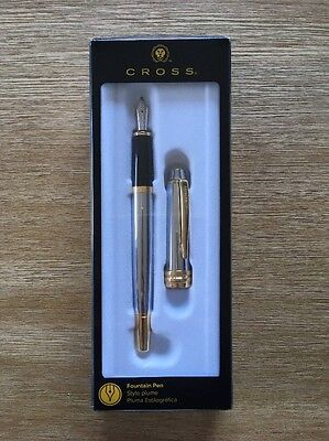 CROSS Classic Fountain Pen Bailey Chrome AT0456S-6MS *Brand New*