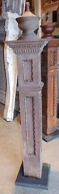 Antique Walnut Wood Newel Post Urn Finial Old Vtg Interior Staircase 1823-16