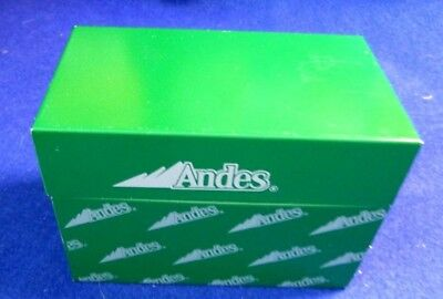 Vintage Metal Andes Recipe  Box with Original  Recipes
