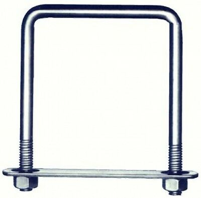 Hindley 7.6cm . X 15.2cm . Square Zinc U-Bolts 41310 - Pack of 10. Free Delivery
