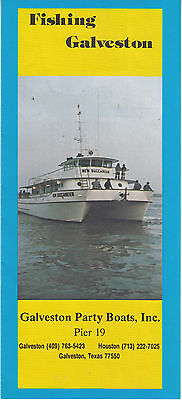 1980s Fishing Galveston Texas Brochure - Party Boats Inc Pier 19