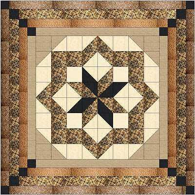 GOLDEN CONSTELLATION  QUILT TOP - Not Quilted, Machine Pieced, MADE IN THE USA