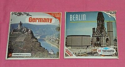 vintage GERMANY & BERLIN VIEW-MASTER REELS lot with booklets