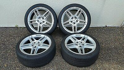 4 Genuine AMG wheels & tyres for Mercedes C class for sale