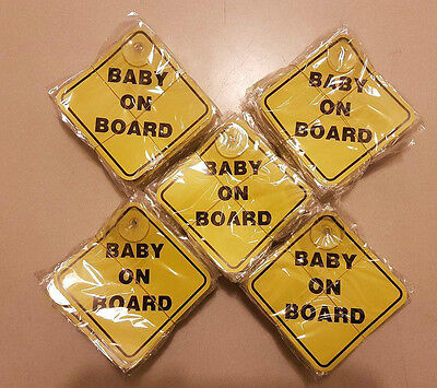 LARGE LOT x100 BABY ON BOARD WHOLESALE MATERNITY SUCTION CUP VEHICLE SAFETY