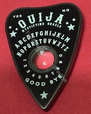 Ouija Board Black Planchette Novelty Collector Lapel Pin