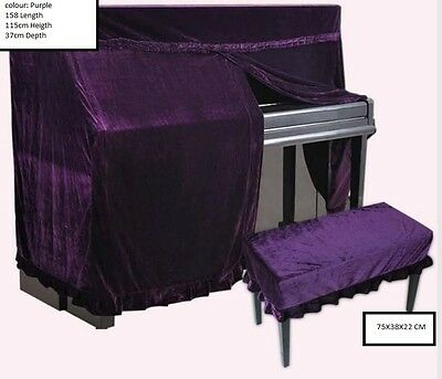 Purple  Upright Piano Opening Cover