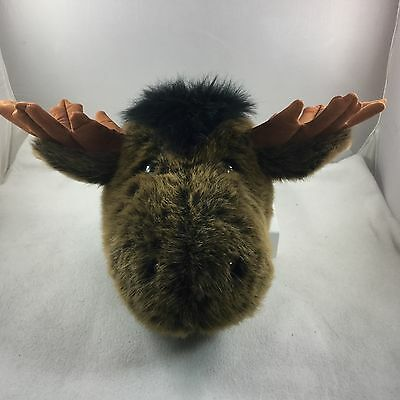 Plush MOOSE HEAD Stuffed Toy Animal Save an Animal- Don't Hunt-Use This Instead!