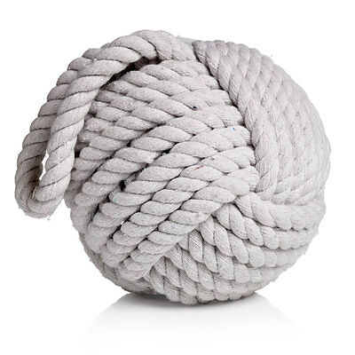 Rope Ball Door Stop White FREE UK DELIVERY