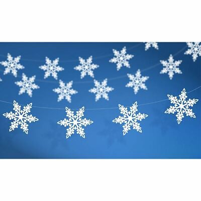 Snowflake Paper Garland Pearl card 1.55m - Christmas Winter Decoration