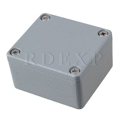 64x57x36mm Gray Metal IP66 Waterproof Wire Box Electric Project Case
