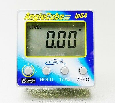 Gen 3 iGAGING Angle Cube Digital Tilt Level Bevel Gauge Electronic Rechargeable