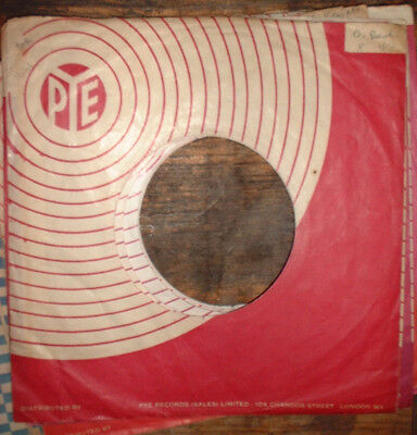 original 1 x PYE MAROON/WHITE RECORDS company sleeve variations