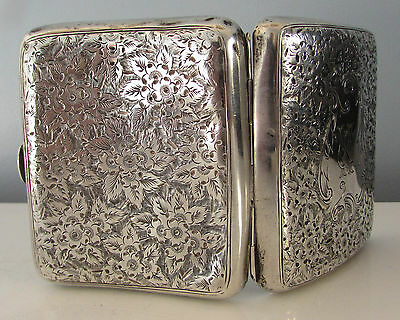 Antique Silver Cigarette Case By Thomas Hayes Hallmarked 1901 . 104Grams