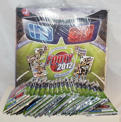 2012 AFL Football Card Complete Set in 3D New Unopened