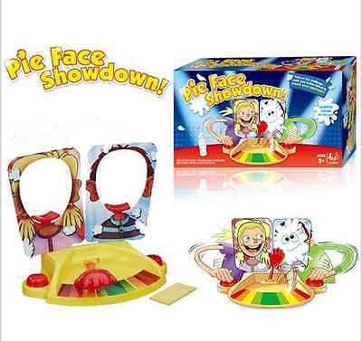 2016 New Pie Face Showdown Kids Game Dual Challenge Ready To Ship Family Time