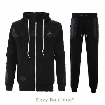 Mens Stylish Padded Quilted Jacket Loose Training Pants Running Trousers S-Xxl